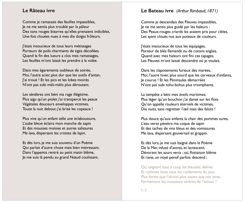 Le Râteau Ivre Short Parodic Poem